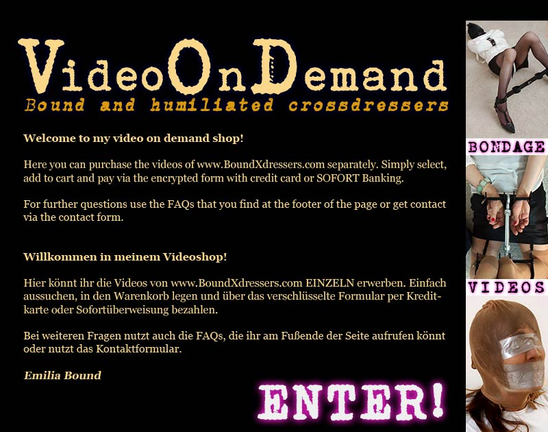Enter Boundxdressers VOD Shop